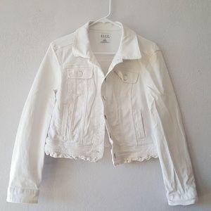Elle White Denim Jacket